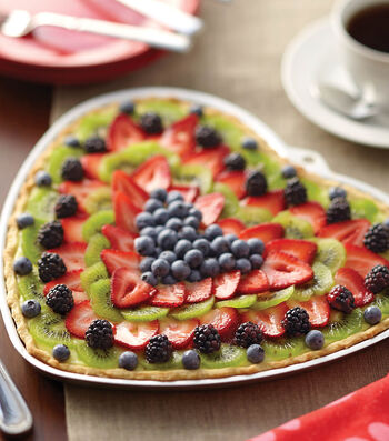 Heart Shape Fruit Dessert