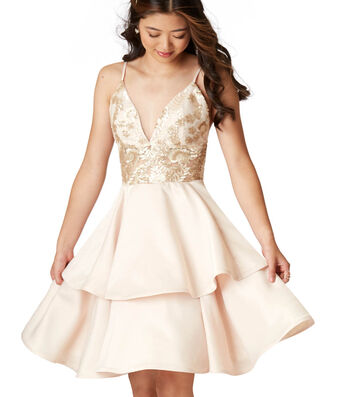 How To Make A Gold Homecoming Dress