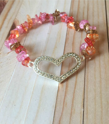 How To Make a Rock Candy Heart Bracelet