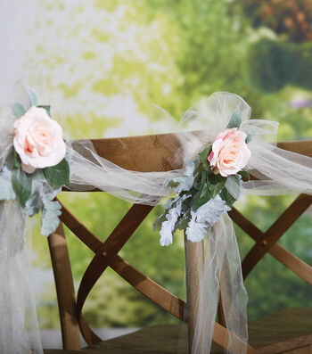 How To Make A Floral Wedding Chair Piece
