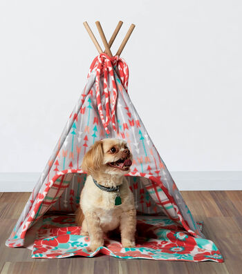How To Sew A Fleece Dog Tee-Pee and Mat