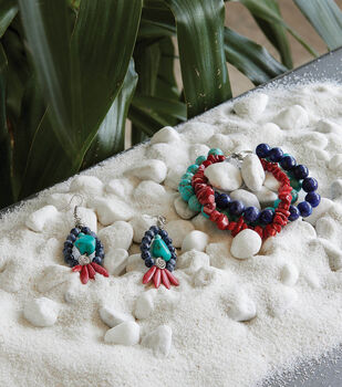 How To Make A Multi- Colored Beaded Bracelet and Earrings