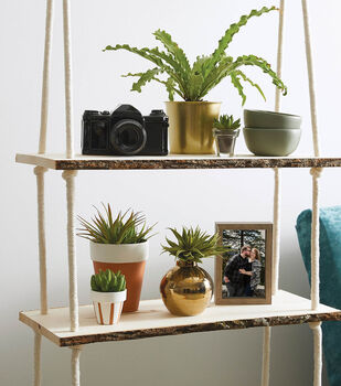 How To Make A Hanging Wood Rope Shelf