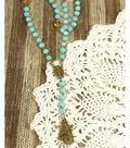 Turquoise Rosary Style Necklace