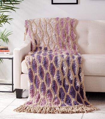 How To Make a Dancing Diamonds Crochet Blanket