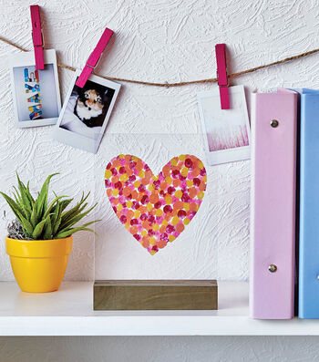 How To Make A Painted Heart Acrylic Panel