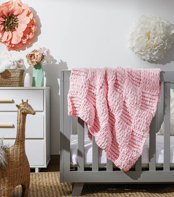 How To Make a Lion Brand Off the Hook Checkerboard Baby Blankie