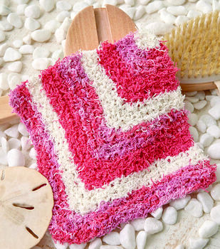 How To Make A Mitered Stripes Washcloth