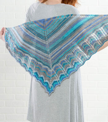 How To Make A Premier Yarns Everyday Plaid Lacenti Shawl