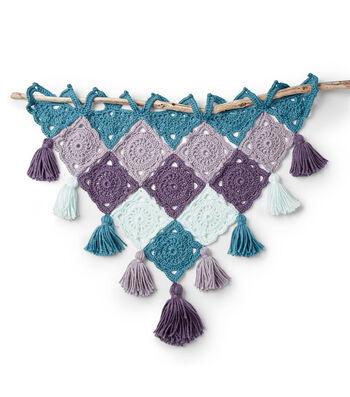 Bernat Crochet Granny Motif Wall Hanging