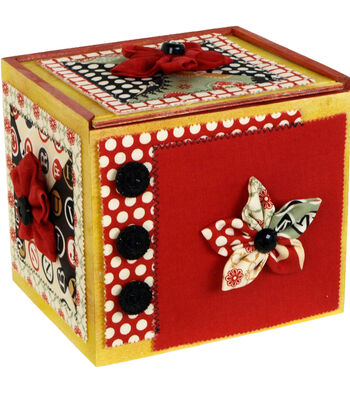 How To Make a Fabric Flower Card Keeper Box