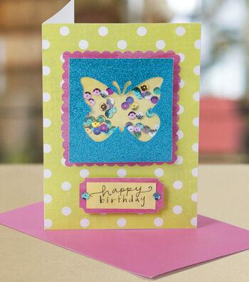 Butterfly Window Card