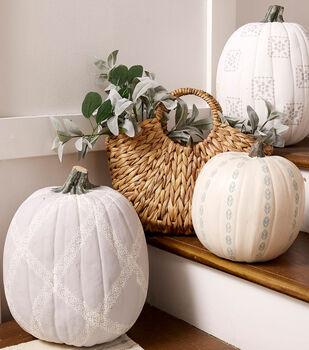 How To Make a Stenciled Pumpkins