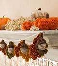 Acorn and Leaf Garland and Mini Crocheted Pumpkins