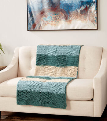 How To Make a Calico Collection Texture Stripes Crochet Blanket