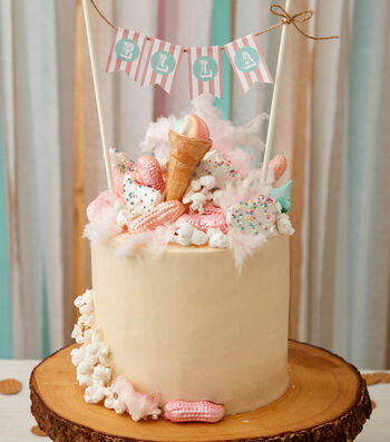Make A Circus Birthday Cake