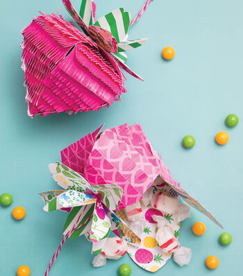 Make A Mini Strawberry Pinata