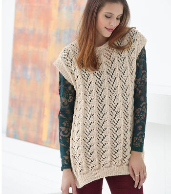How to Knit Fan Lace Tunic