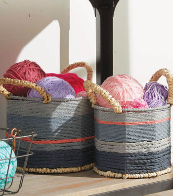 How To Make Painted Baskets