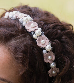 How To Make A Pearl and Flower Headband