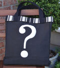 Square By Design Trendy Tote Bag with Dimensional Motif