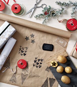 How To Make Stamped Gift Wrap