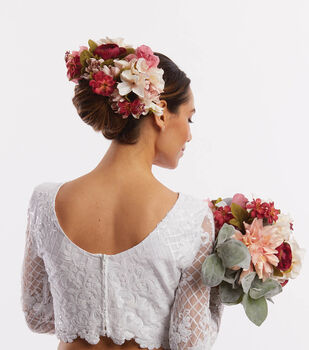 How To Make a Fall Bridal Hair Piece and Bouquet