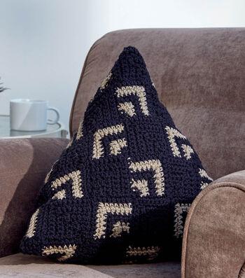 How to Crochet A Crochet Mosaic Pillow