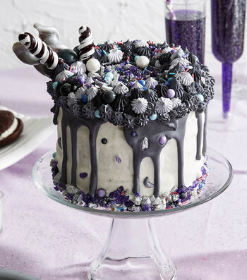 How To Make a Black and White Lolly Pop Cake