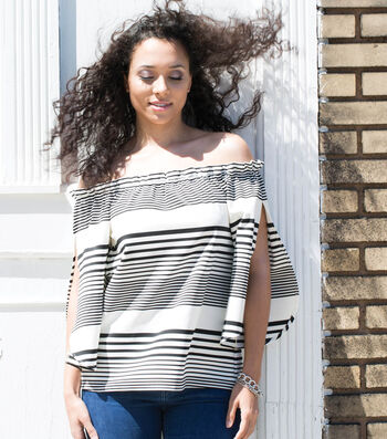 How To Make An Off The Shoulder Stripe Top