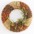 Silk Floral Succulent Wreath