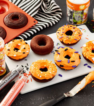 How To Make Halloween Donuts with Sprinkles