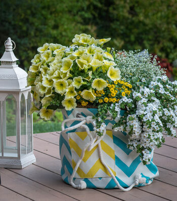 Large Drawstring Planter Tote Cover