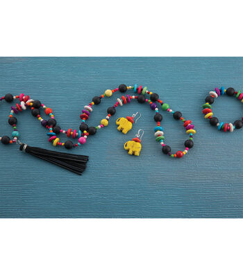 Make A Colorful Necklace, Bracelet, And Earrings