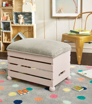 How To Make a Wooden Crate Ottoman