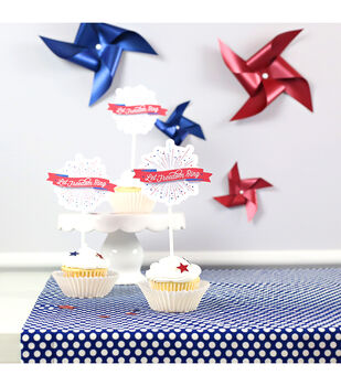 How To Make Patriotic Cupcake Toppers