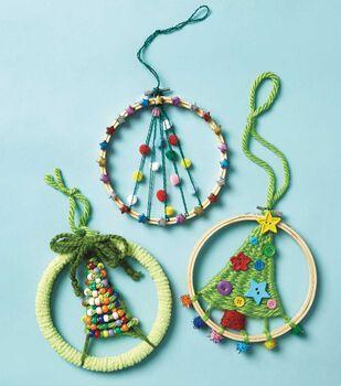 How To Make A Christmas Tree Weaving Hoop