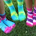 Twinkle Toes Tie-Dyed Socks