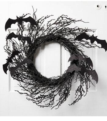 How To Make A Halloween Bat Wreath