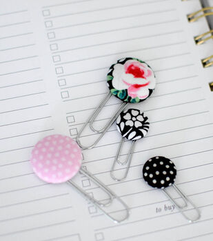 How To Make Cover Button Paper Clips