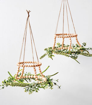 How To Make a Wood Bead and Floral Chandelier