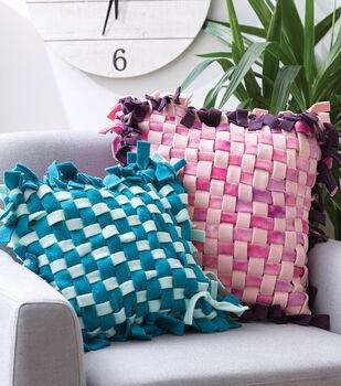 How To Make No Sew Woven Fleece Pillows