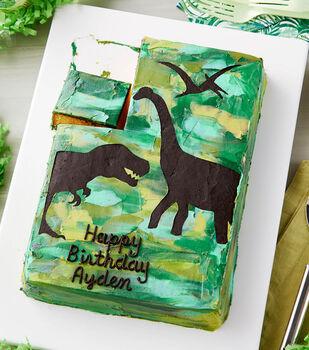 How To Make A Dino-riffic Sheet Cake