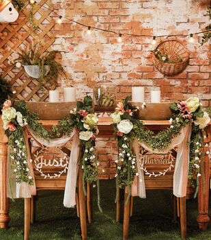 How To Make a Floral Chair Back Garland