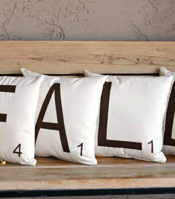 Fall Scrabble Tile Pillows