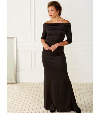 Black Scuba Fabric Dress