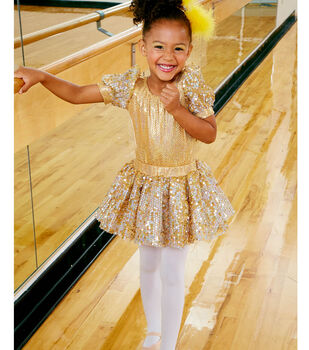 Gold Dance Costume and Headband