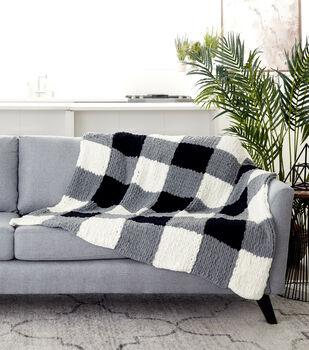 How To Make A Bernat Alize Blanket EZ Checked Blanket