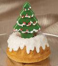 Glistening Tree Topped Mini Cakes