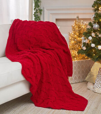 How To Make a Have a Cool Yule Knit Throw